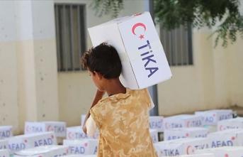TİKA Yemen'de Kurban Bayramı öncesi gıda yardımı yaptı