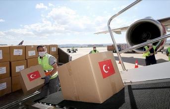 Türkiye'den Kazakistan'a tıbbi malzeme yardımı