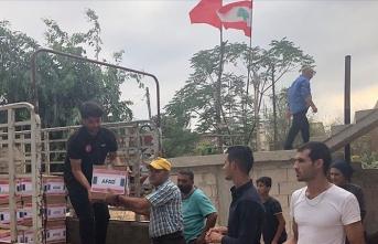AFAD'dan Lübnan'daki ihtiyaç sahibi ailelere gıda yardımı