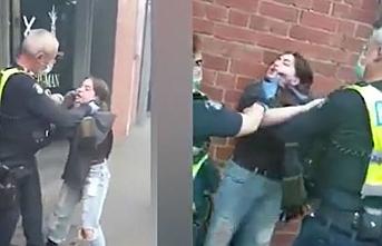 Avustralya polisi maske takmayan kadını neredeyse boğuyordu