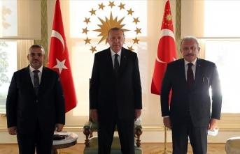 Cumhurbaşkanı Erdoğan, Libya Yüksek Devlet Konseyi Başkanı el-Meşri'yi kabul etti