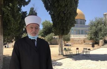 Filistin Müftüsü: Normalleşme anlaşması kanalıyla Mescid-i Aksa'yı ziyaret etmek haramdır