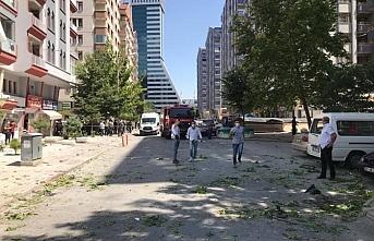 Konya'da bir iş yerinde doğal gaz patlaması meydana geldi
