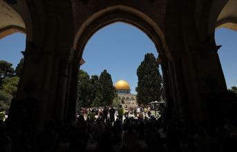 Mescid-i Aksa minberinden Filistinlilere 'Harem-i Şerif'e sık gelin' çağrısı