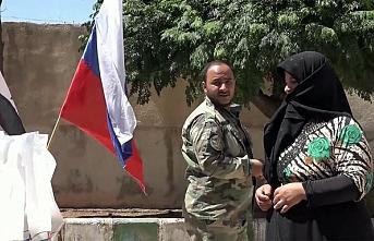 Rus Ordusu Kurban Bayramı nedeniyle Suriye'de halka yardım dağıttı