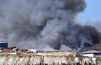 Tekirdağ'da geri dönüşüm tesisinde yangın çıktı