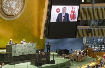 Cumhurbaşkanı Erdoğan'ın İsrail'e yönelik eleştirileri, BM'de İsrail Büyükelçisi'ne salonu terk ettirdi