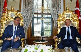 Erdoğan, Sırbistan lideri Vucic'i kabul etti