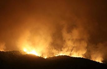 Hatay'daki orman yangınına havadan müdahaleye yeniden başlandı