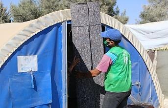 İHH'den Afrin'e halı ve battaniye yardımı