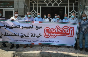 İsrail'le imzalanan normalleşme anlaşmaları protesto edildi