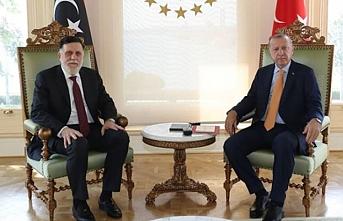 Libya'daki ateşkes sonrası bir ilk! Erdoğan Serrac'ı kabul etti