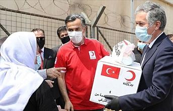 Türk Kızılay'dan Irak'taki Ezidilere gıda ve hijyen malzemesi yardımı