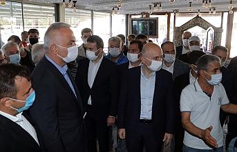 Bakan Ersoy ve Karaismailoğlu Seferihisar'da incelemede bulundu