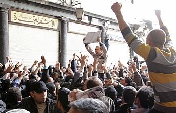 Dera'da protesto sesleri yankılandı