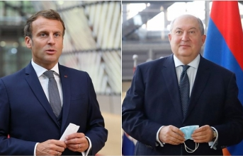 Macron ile Sarkisyan görüştü