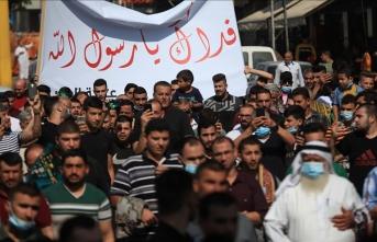 Macron'un İslam düşmanı tutumu Filistin'de protesto edildi