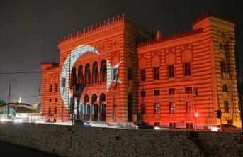 Vijecnica Kütüphanesi'ne Türk bayrağı yansıtıldı