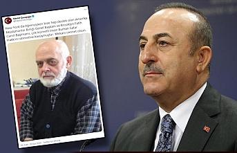 Acı haberi Çavuşoğlu duyurdu: Burhan Satar vefat etti