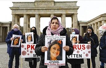 Almanya'da kızı terör örgütü PKK tarafından kaçırılan annenin eylemi devam ediyor