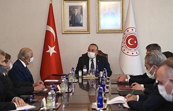 Çavuşoğlu ABD'nin Özel Temsilcisi Halilzad ile görüştü