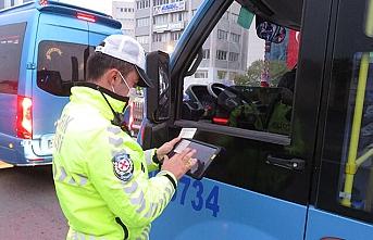 İstanbul'da toplu taşıma araçlarında koronavirüs denetimi yapıldı