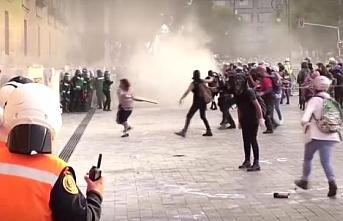 Kadına karşı şiddet protestosu şiddet olaylarına dönüştü