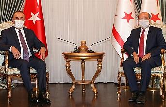 KKTC Cumhurbaşkanı Tatar Dışişleri Bakanı Çavuşoğlu'nu kabul etti