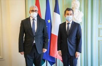 Libya İçişleri Bakanı Başağa, Fransa Dışişleri ve İçişleri bakanlarıyla görüştü