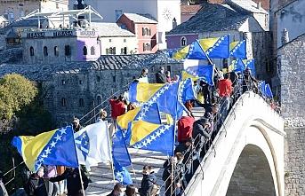 Mostar Köprüsü'nün yıkılışının 27. yılında anma töreni düzenlendi