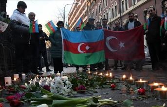 Azerbaycan şehitleri İsveç'te anıldı