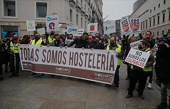 İspanya'da restoran sahipleri eylemlerini sürdürüyor