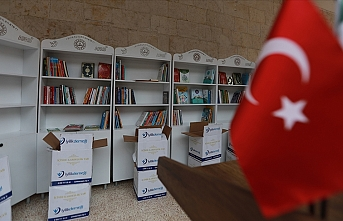 Suriye'deki 805 okula kütüphane kurulacak