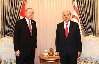 KKTC Cumhurbaşkanı Ersin Tatar Cumhurbaşkanı Erdoğan'ı aradı