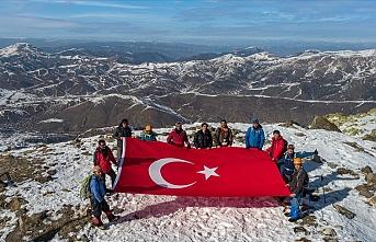 Dağcılar Yıldız Dağı'na tırmandı