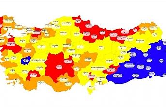 İşte Türkiye'nin koronavirüs risk haritası