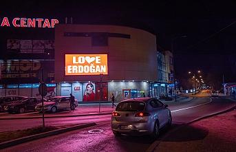 Saraybosna'dan New York'a 'Love Erdoğan'lı cevap