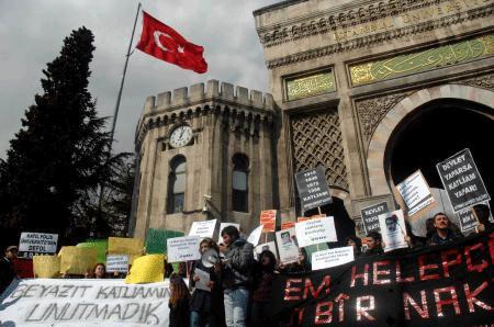 Halepçe katliamı protesto edildi