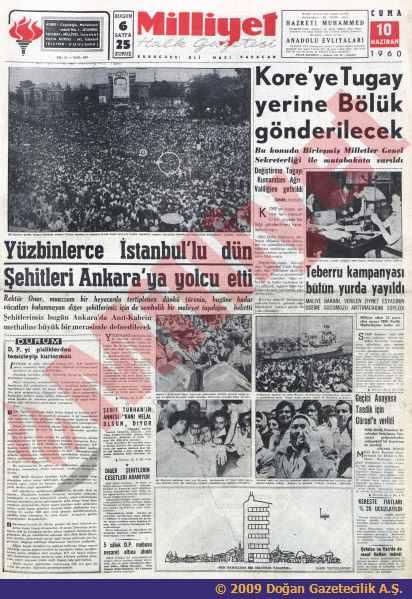 27 Mayıs hareketinin 'Hürriyet Şehitleri'