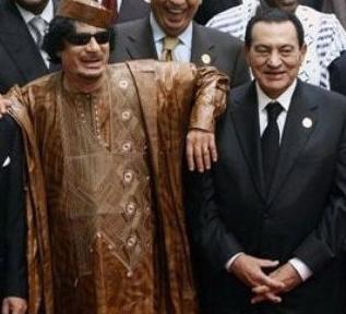 Mübarek, Kaddafi için ağlıyor!