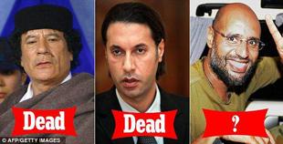 Kaddafi ölürken çocukları da ya öldü ya firarda