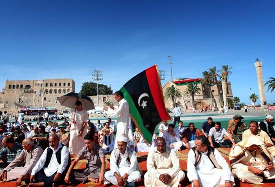 Libya'da Kaddafisiz ilk Cuma namazı