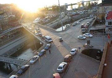 Zonguldak'taki köprü kapatıldı