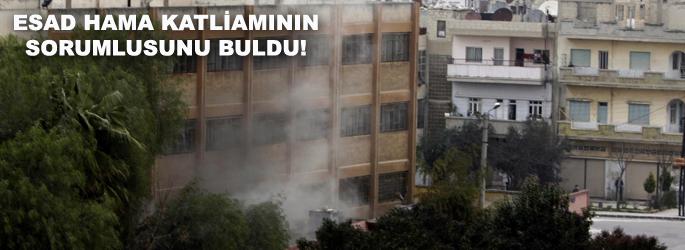 Esad, Hama katliamının sorumlusunu buldu!