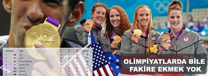 Olimpiyatlarda bile fakire ekmek yok!