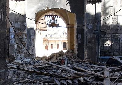 Yakılan Emevi Camii şimdi bu halde -FOTO