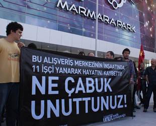 11 işçinin öldüğü AVM'nin açılışı protesto edildi