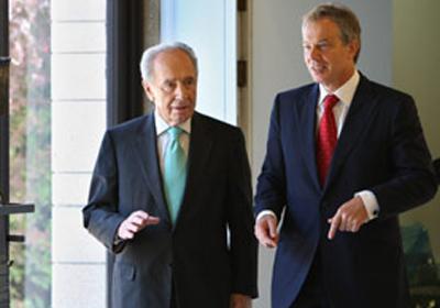 Blair, İsrail'de Peres ile bir araya geldi