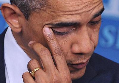 Okul katliamı Obama'yı ağlattı