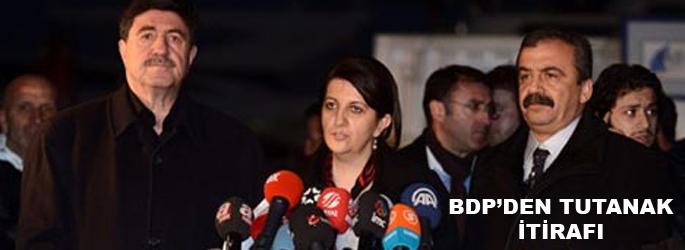 BDP'den 'tutanaklar' itirafı